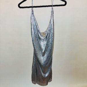Express NWT sequin top xs